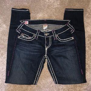 NEW True Religion Stella Super T Skinny Blue Jeans